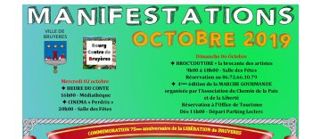 Manifestations OCTOBRE 2019